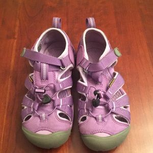 Keen purple water shoes